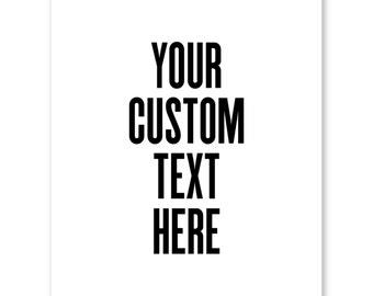 Custom Poster Quote, Custom Print, Custom Home Decor, Printable Poster, Custom Christmas Gift