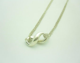 Tiffany & Co. Sterling Silver Infinity Pendant Necklace 15""