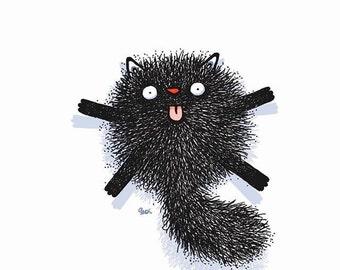 tiny black cat