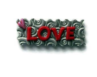 Handmade polymer clay magnet/Strong fridge magnet/Fridge magnet/Love word magnet/Office decor magnet/Inspiration board/Love magnet