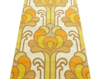 Origitnal  MIDCENTURY-MOD POPART Vintage Floral Abyss Fantasy Wallpaper