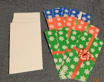 12 Christmas Money Holder Cards