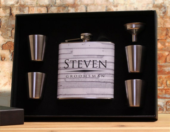 best groomsmen gifts groomsman flask set personalized flask set for groomsmen 30210