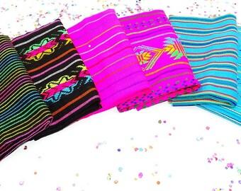 Half Yard Bundle Of 6, Bohemian Fabric, Ethnic fabric, Fabric By The Yard, Vintage Fabric, Fabric Wedding, Quinceanera Decor, Serape Serape.