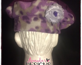 Purple Camoflauge Fleece Hat