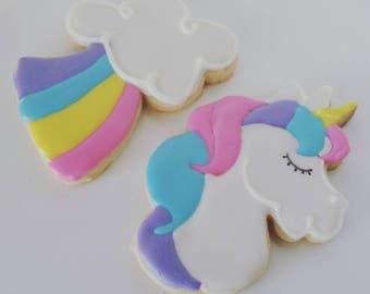 Unicorn & Rainbow Cookies (One Dozen)
