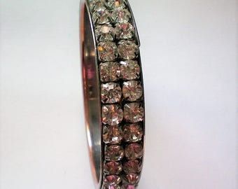Large Rhinestone Bangle Bracelet - 4334
