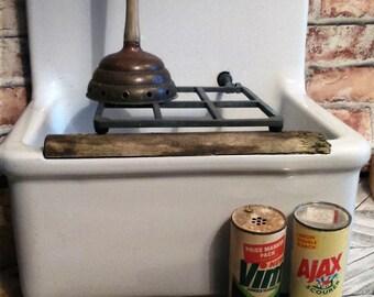 vintage utility sink .grate splashback. armitage england. for barn build cottage. utility room