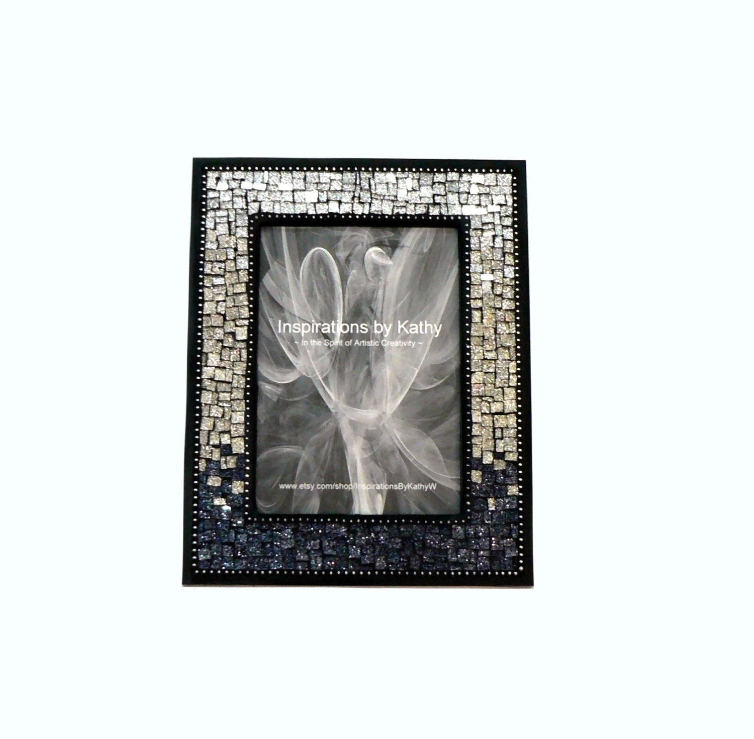 5x7 picture frame glitter glass picture frame silver