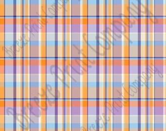 Madras plaid craft vinyl sheet - HTV or Adhesive Vinyl -  spring colors purples oranges HTV1833