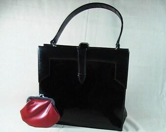 Vintage 50's Viki Original Designer Purse with Coin Purse, Classic Handbag, Mid Century Handbag