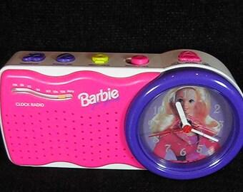 Vintage 1995 Mattel Barbie Alarm Clock Radio, Fm Radio, Barbie Radio, Alarm Clock Radio, Barbie Collectible, Vintage Barbie