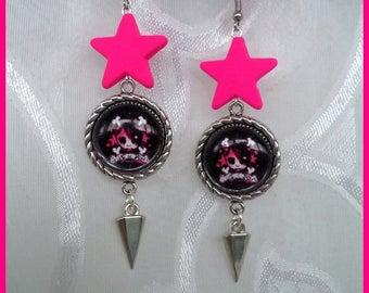 Boucles d'oreilles *Skull Star*