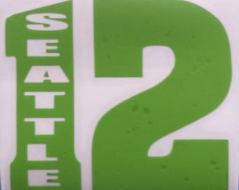 12 with Seattle Vinyl Car Decal