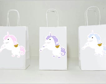 Unicorn Goody Bags, Unicorn Party Bags, Pastel Unicorn Favor Bags, Unicorn Party, Unicorn Birthday