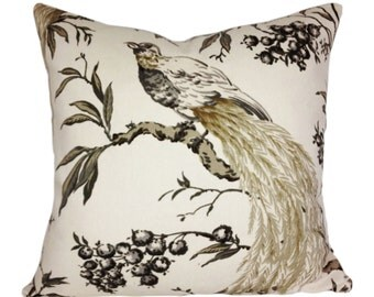 Duralee Bird of Paradise Pillow Cover - Throw Pillow - Both Sides - 10x20, 12x16, 12x20, 14x20, 14x24, 16x16, 18x18, 20x20, 22x22, 24x24