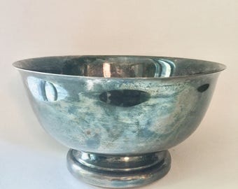 SHERIDAN SILVER PLATED Fruit Bowl, Vintage Silverplated Bowl