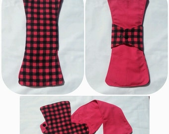 Flannelette 25cm Regular WraPad v3.0 - Checkergirl - Fast Drying & Super Absorbent Reusable Sanitary Cloth Pad