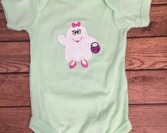 Halloween Girly Ghost Baby Bodysuit  - Ready to ship