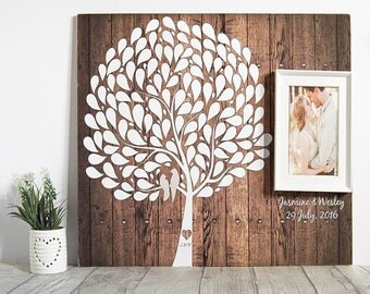 Wedding Guest Book - Rustic Guestbook - Alternative Wedding Guestbook - Unique Personalised Wedding Tree
