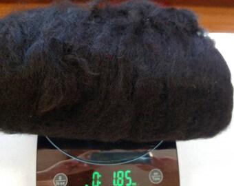 100% natural black Alpaca fiber