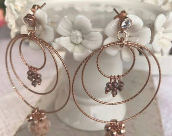 Powder Rose Earrings