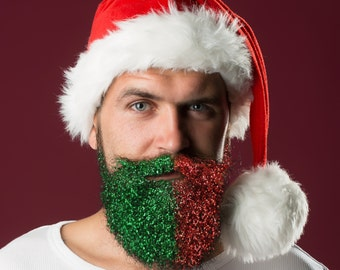 Christmas Glitter Beard Kit Beard Glitter Scented Organic by Beard Basics
