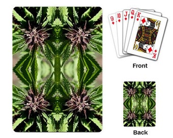 Playing Cards: Marijuana Themed Playing Cards Purple Nepal Marijuana Print, Cannabis Cards, Marijuana Cards - Made to Order