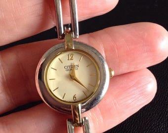 Ladies citizen bracelet watch ,2 tone