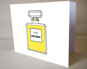 "Customizable Birthday Card ""The Perfume"""