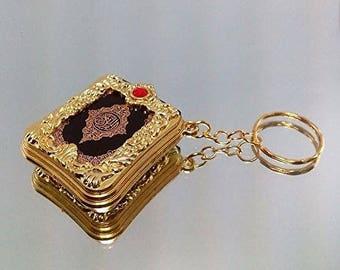 Mini Ark Quran Book Key Chain