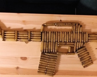 Ar-15 Art from once fired .223 brass