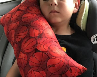 Basketball Seat Belt Pillow/ Kids Travel Pillow