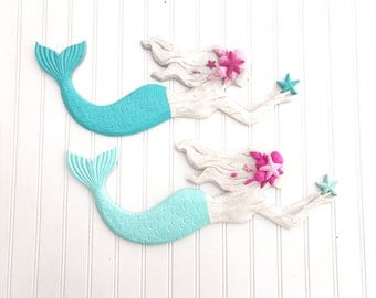 Mermaid Sign - Mermaid Decor - Bathroom Decor - Bedroom Decor - Beach Decor - Coastal Decor - Mermaid Wall Decor - Nautical