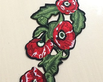 Flower embroidery patch DIY Accessories applique vintage floral patches
