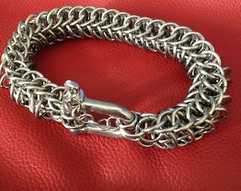 "Persian Dragonscale Bracelet - Stainless Steel Bracelet - ""Wristbreaker"" Heavy Bracelet"