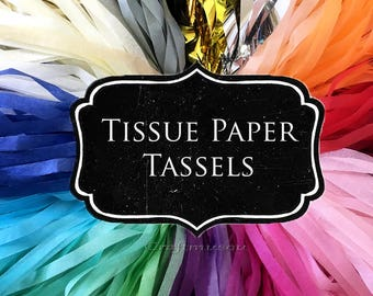 DIY KIT Paper Tissue Tassel Garland - Classroom Wedding, Birthday, Holiday Baby Bridal Shower: Choose your Colors and quantity