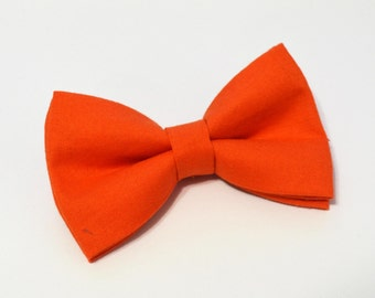 Orange Bow Tie For baby/Toddler/Teen/Adult/with Adjust strap/Clip on