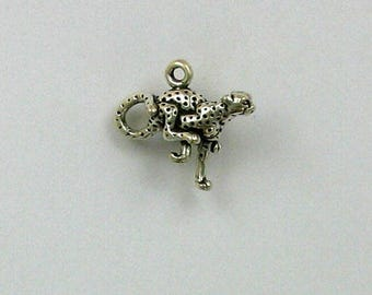 Sterling Silver 3-D 20mm Cheetah Charm
