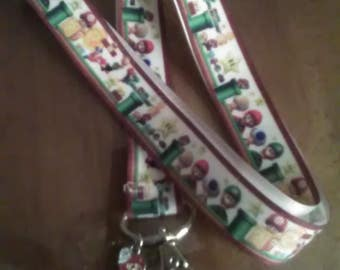 Super Mario Brothers Lanyard with Charm