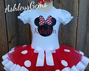 Minnie Mouse Birthday Outfit, Minnie Mouse Tutu Set, Minnie Mouse Tutu Outfit, Minnie Mouse Tutu Baby, Minnie Mouse Dress Toddler, Red