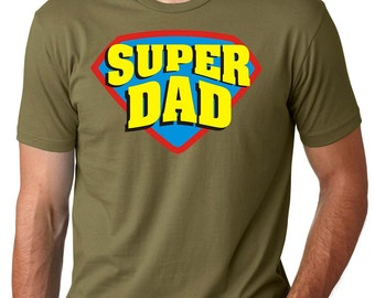 Super Dad T-Shirt Gift For Father Dad Daddy Super Hero Dad Tee Shirt