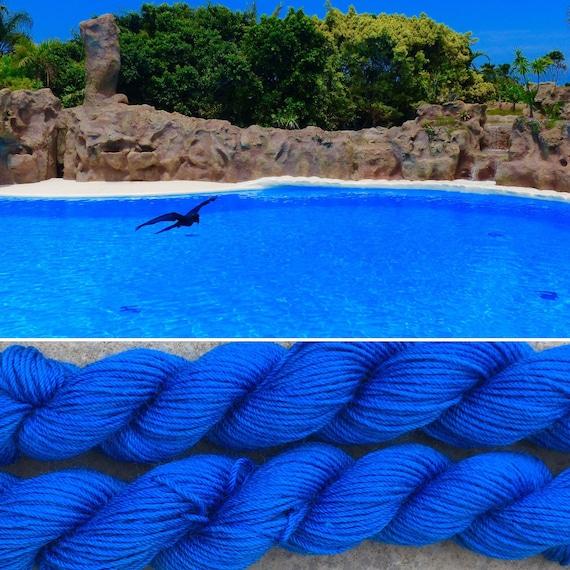 Blue Lagoon Miniskein 20g, 75/25 merino nylon platinum sock indie yarn mini skein