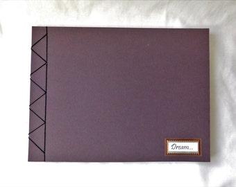Handmade Notebook, Blank Journal Diary, Small landscape sketchbook, Art journal, Artist sketchbook, Paperback notebook, Journal for him
