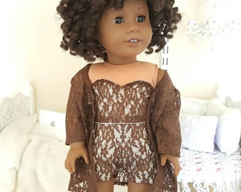 18 inch doll lace three piece outfit