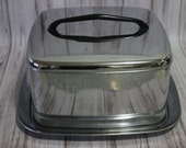 Vintage Cake Carrier, Cake Pan, Retro, Kitchen Decor, Kitchen Storage, Silver, Lincoln Beautywear, Mid Century, Stainless Steel