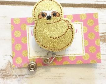 Nurse Badge Reel - Sloth Badge Reel - Summer Badge Reel - Zoo - Retractable Badge Reel -Name Badge - Badge Holder - Nurses Week Gift