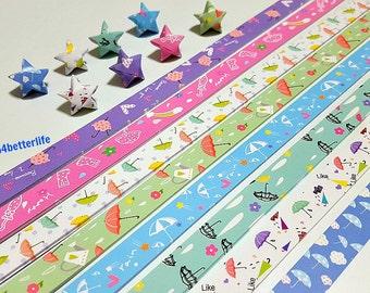 Pack of 250 strips of DIY Origami Lucky Stars Paper Folding Kit. 26cm x 1.2cm. (XT Paper Series). #HLX07.