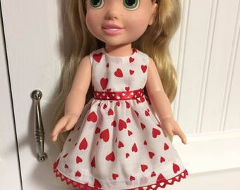 Small dress for 13 inch doll