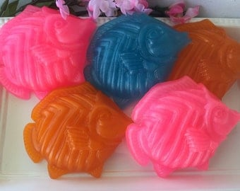 Tropical Fish Soap - Glycerin Soap - Ocean Soap - Beach Soap - Nautical Soap - Under the Sea Party - Kids Soap